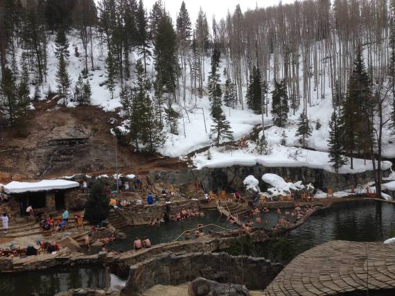The last day we stopped by Strawberry Park Hot Springs.