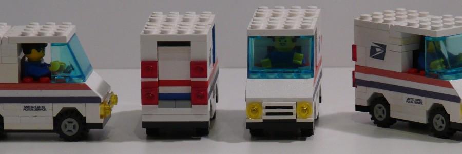 Lego Mail Trucks